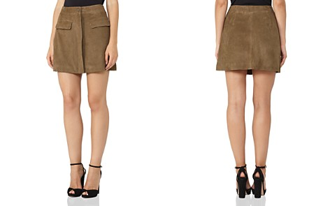 REISS Marina A-Line Suede Mini Skirt - Bloomingdale's_2
