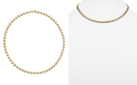 "14K Yellow Gold Stampato Link Necklace, 18"" - 100% Exclusive - Bloomingdale's_2"