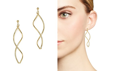 14K Yellow Gold Double Twisted Drop Earrings - 100% Exclusive - Bloomingdale's_2