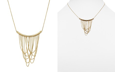 "14K Yellow Gold Draped Chain Pendant Necklace, 16"" - 100% Exclusive - Bloomingdale's_2"