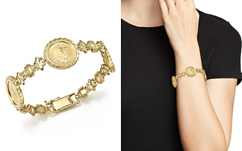 14K Yellow Gold Three Coin Bracelet - 100% Exclusive - Bloomingdale's_2