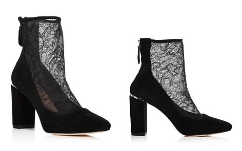 Pour La Victoire Women's Risa Suede & Lace Booties - Bloomingdale's_2