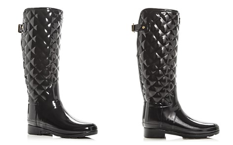 Hunter Women's Refined Gloss Quilted Rain Boots - Bloomingdale's_2