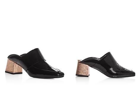 Aska Women's Gwynne Patent Leather Mid Heel Mules - 100% Exclusive - Bloomingdale's_2