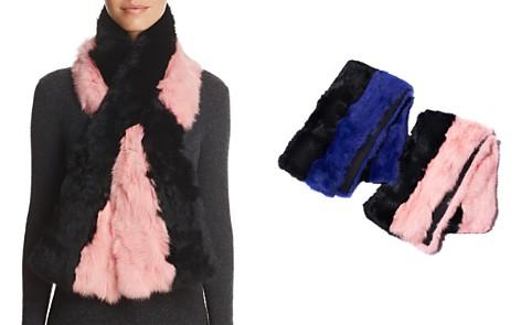 Surell Pieced Rabbit Fur Scarf - 100% Exclusive - Bloomingdale's_2