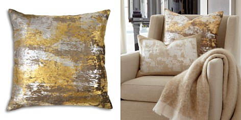 "Michael Aram Distressed Metallic Velvet Print Decorative Pillow, 20"" x 20"" - Bloomingdale's_2"