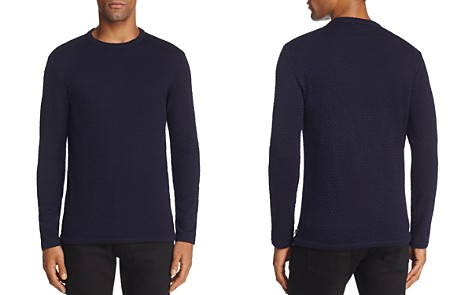 Armani Collezioni Solid Textured Sweater - Bloomingdale's_2