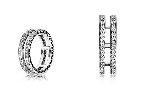 e37b84a95 ... clearance pandora sterling silver cubic zirconia double hearts of pandora  ring bloomingdales2 6d32b 39f1a