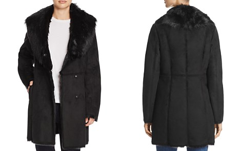 Marc New York Sarah Asymmetric Front Faux Shearling Coat - Bloomingdale's_2