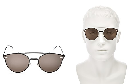 Dior Homme Diorpressure Zero Base Top Bar Rimless Round Sunglasses, 57mm - Bloomingdale's_2