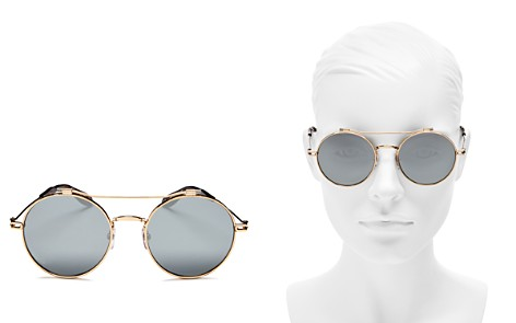 Givenchy Women's Mirrored Brow Bar Round Sunglasses, 53mm - Bloomingdale's_2