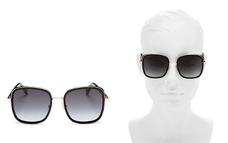 Jimmy Choo Elva Square Sunglasses, 54mm - Bloomingdale's_2
