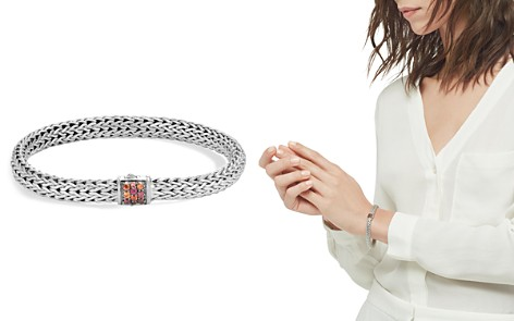John Hardy Sterling Silver Classic Chain Lava Small Bracelet with Garnet - Bloomingdale's_2