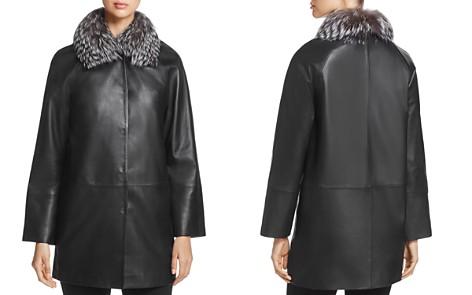 Maximilian Furs Saga Fox Fur-Collar Leather Jacket - 100% Exclusive - Bloomingdale's_2