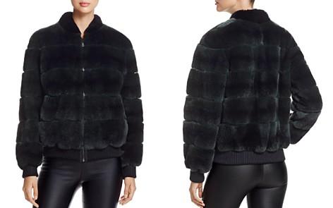 Maximilian Furs Rabbit Fur Bomber Jacket - 100% Exclusive - Bloomingdale's_2