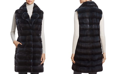 Maximilian Furs Notch Collar Long Kopenhagen Mink Vest - Bloomingdale's_2