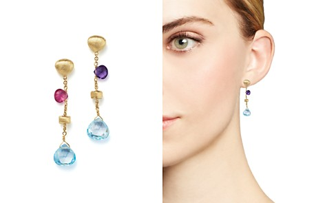 Marco Bicego 18K Yellow Gold Paradise Mixed Gemstone Teardrop Earrings - Bloomingdale's_2