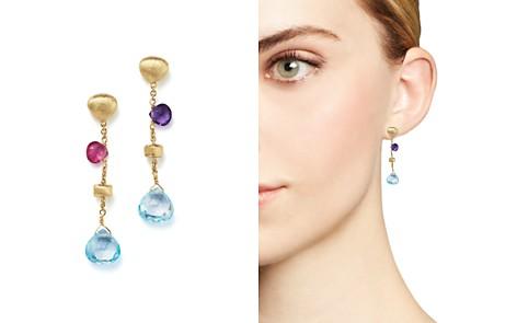 Marco Bicego 18K Yellow Gold Paradise Mixed Gemstone Teardrop Earrings - Bloomingdale's_2