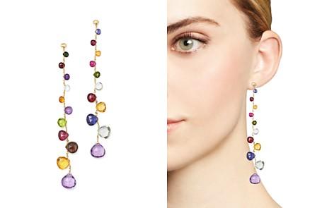 Marco Bicego 18K Yellow Gold Paradise Teardrop Linear Gemstone Earrings - Bloomingdale's_2