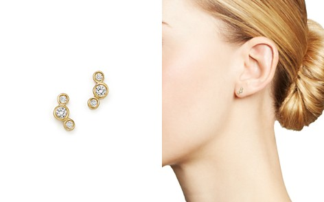 Zoë Chicco 14K Yellow Gold Small Triple Graduated Diamond Curved Bezel Stud Earrings - Bloomingdale's_2