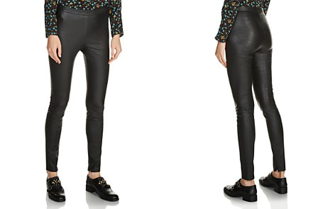 Maje Smarto Leather Leggings - Bloomingdale's_2