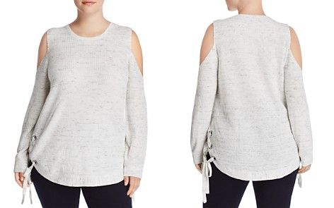 Love Scarlett Plus Cold Shoulder Lace-Up Sweater - Bloomingdale's_2