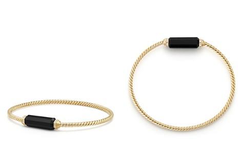 David Yurman Barrels Bracelet with Diamonds & Black Onyx in 18K Gold - Bloomingdale's_2