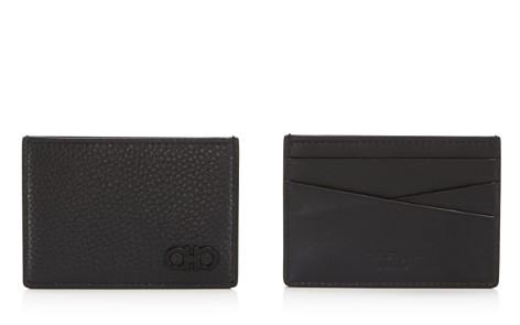 Salvatore Ferragamo Firenze Pebbled Leather Card Case - Bloomingdale's_2
