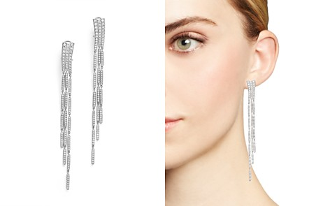Bloomingdale's Diamond Statement Long Drop Earrings in 14K White Gold, 3.0 ct. t.w. - 100% Exclusive _2