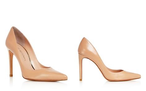 Stuart Weitzman Women's Curvia Leather High-Heel Pumps - Bloomingdale's_2