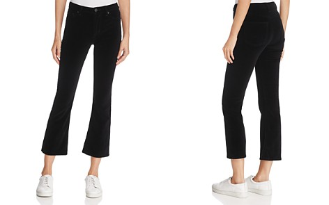 Hudson Brix High-Rise Bootcut Cropped Jeans in Black Star - Bloomingdale's_2