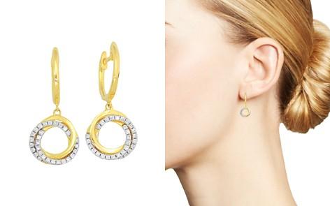 Frederic Sage 18K Yellow Gold Flat Triple Halo Diamond Earrings - Bloomingdale's_2