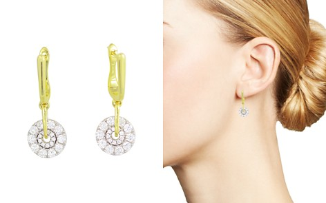 Frederic Sage 18K White & Yellow Gold Spinning Diamond Cluster Earrings - Bloomingdale's_2