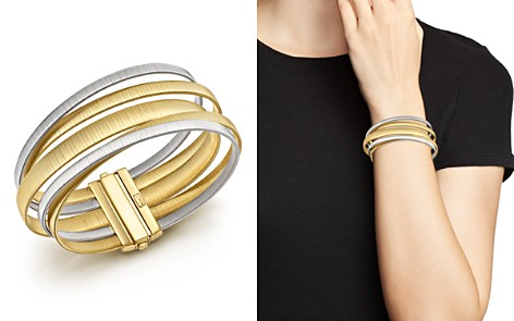 Marco Bicego 18K White & Yellow Gold Masai Five Strand Crossover Bracelet - Bloomingdale's_2