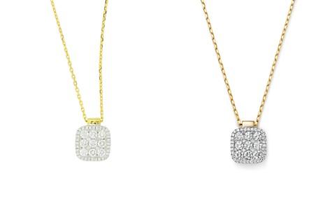 "Frederic Sage 18K Yellow & White Gold Diamond Firenze Medium Cushion Pendant Necklace, 18"" - Bloomingdale's_2"