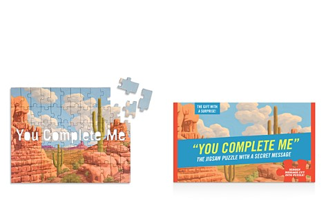 Knock Knock You Complete Me Message Jigsaw Puzzle - Bloomingdale's_2