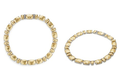 David Yurman Châtelaine Linear Necklace with Diamonds in 18K Gold - Bloomingdale's_2