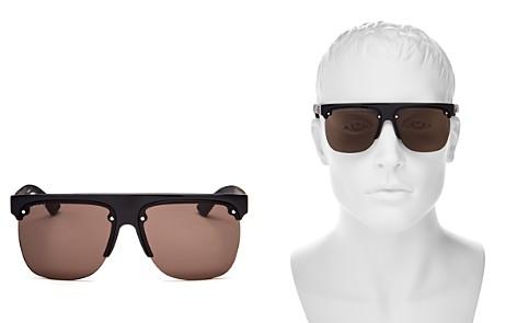 Gucci Urban Semi Rimless Flat Top Sunglasses, 60mm - Bloomingdale's_2
