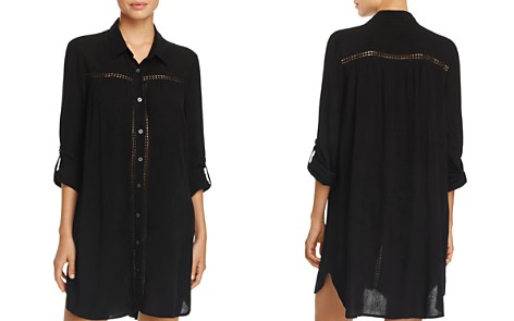 Tommy Bahama Shirred Boyfriend Shirt Swim Cover-Up - Bloomingdale's_2
