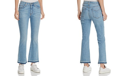 Derek Lam 10 Crosby Gia Mid-Rise Cropped Flare Jeans in Light Wash - Bloomingdale's_2