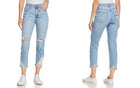 Nobody Bessette Straight & Cropped Jeans in Immortal - Bloomingdale's_2