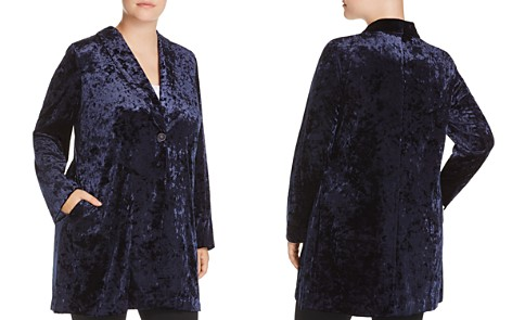 B Collection by Bobeau Curvy Jame Velvet Jacket - Bloomingdale's_2
