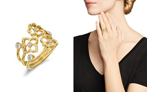 Gumuchian 18K Yellow Gold Mini G Boutique Floral Diamond Ring - Bloomingdale's_2