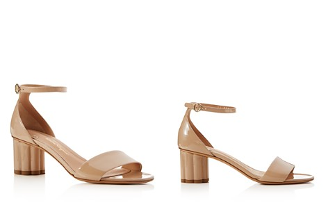 Salvatore Ferragamo Women's Patent Leather Floral Heel Sandals - Bloomingdale's_2