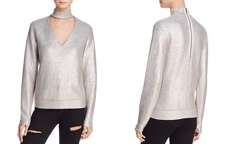 Bailey 44 A-List Metallic Cutout Sweater - Bloomingdale's_2