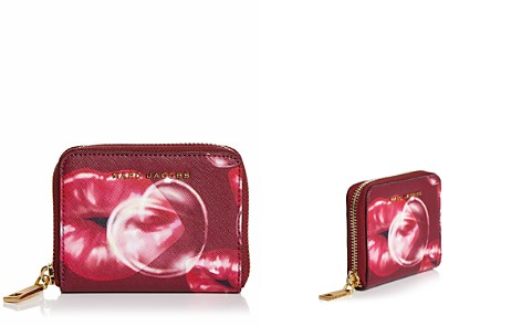 MARC JACOBS Printed Lips Zip Saffiano Leather Card Case - Bloomingdale's_2