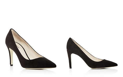 Giorgio Armani Women's Suede Pointed Toe Pumps - Bloomingdale's_2