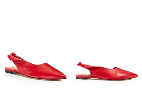 Sigerson Morrison Women's Sham Leather Slingback Flats - Bloomingdale's_2
