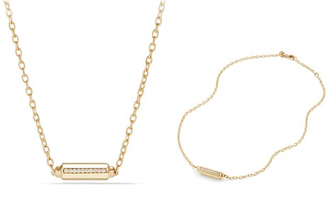 David Yurman Barrels Station Necklace with Diamonds in 18K Gold - Bloomingdale's_2