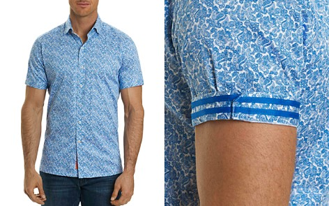 Robert Graham Thad Paisley Short Sleeve Button-Down Shirt - Bloomingdale's_2